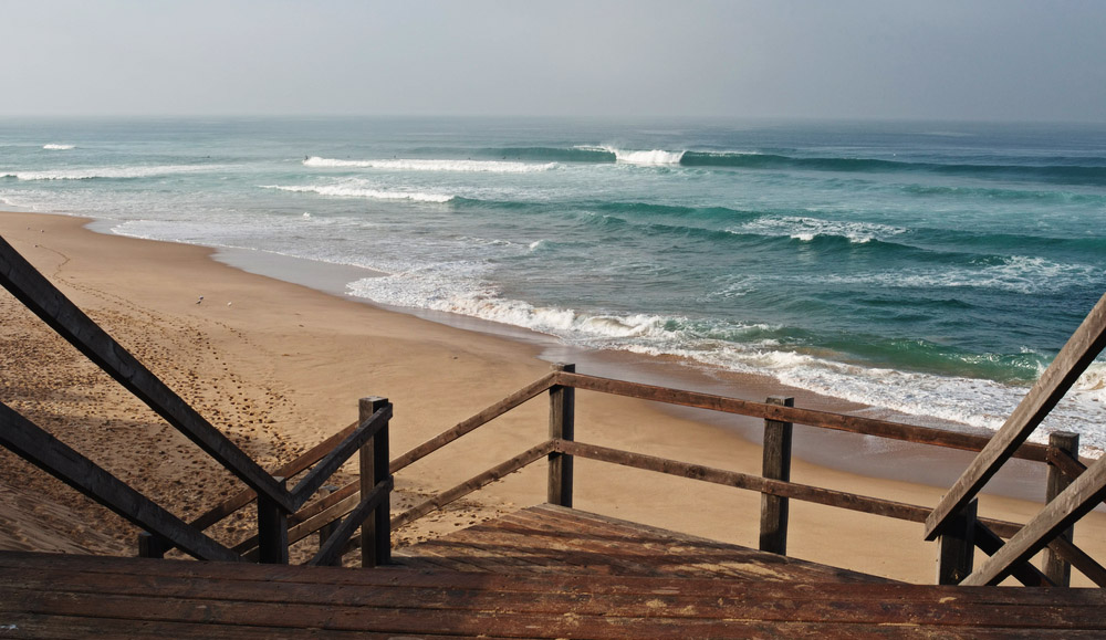 Not my spot, but another in a long line of beautiful waves with hard-to-use stairs down to them! Photo: Shutterstock