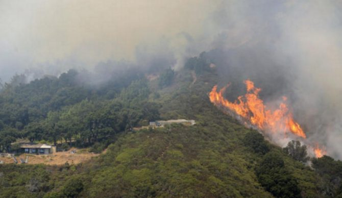 Big wave surfer Don Curry is among those who have lost their homes to the raging Soberanes fire in Monterey County. Photo: L.A. Times