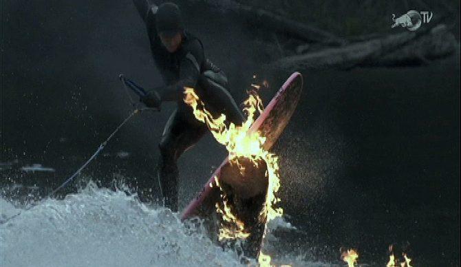 This stunt set tempers ablaze.