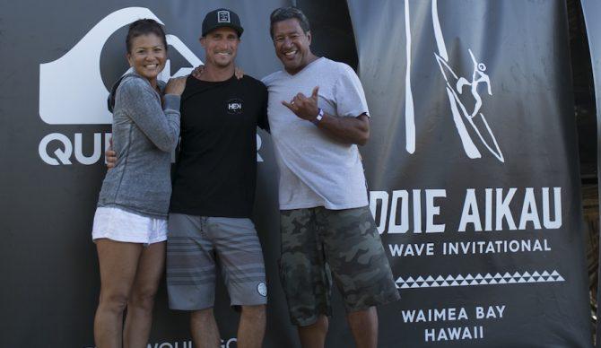 Tammy Moniz, Aaron, and Tony at the Eddie.