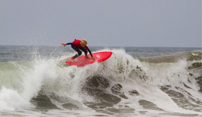 Grom Jacob Kelly pulling a huge floater on the Matthew Fish. Photo: Val Reynolds