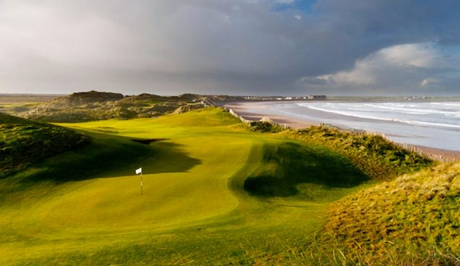 Donald Trump hopes to build a seawall to protect his Irish golf course, and potentially ruin a popular surfing beach. Photo: trumpgolfireland.com