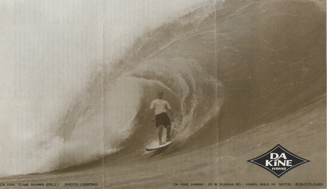 "A classic Dakine magazine ad with the accompanying text: ""Leashes Designed for Hawaiian Waters"". Photo: Dakine"