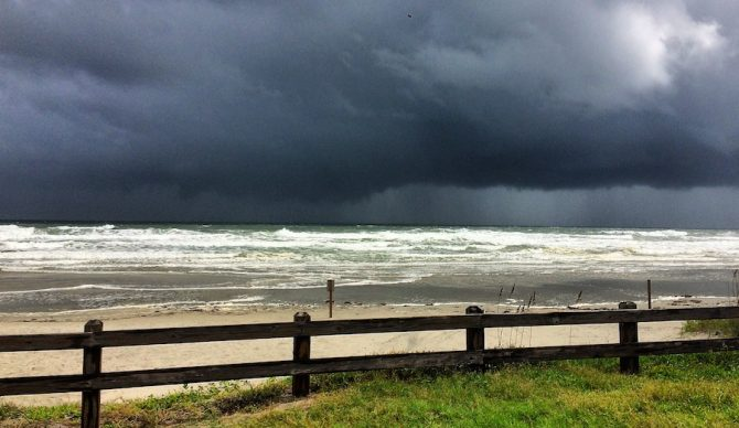 An ominous view of New Smyrna Beach pre-Matthew. Photo: @therealtupat