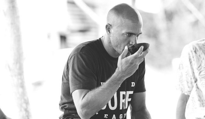 Kelly Slater may be participating in a kava ceremony here. But the bottom line is, the guy's big on diet and health, and deliberate about what he puts in his body. Photo: WSL/Kelly Cestari