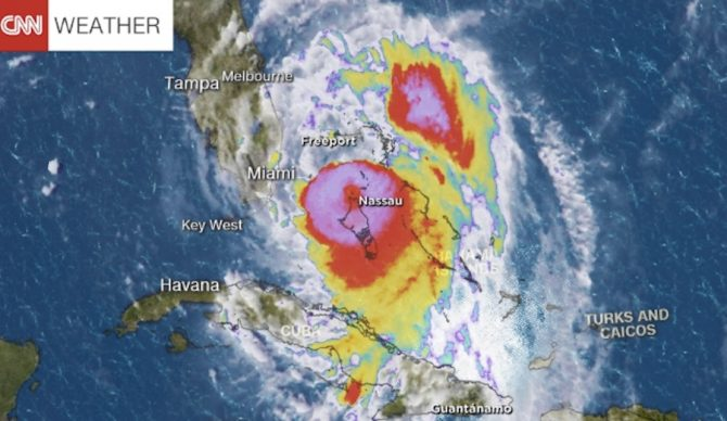 Hurricane Matthew, a Category 4 hurricane, is on track to impact areas of the American southeast over the next several days. Photo: CNN Weather