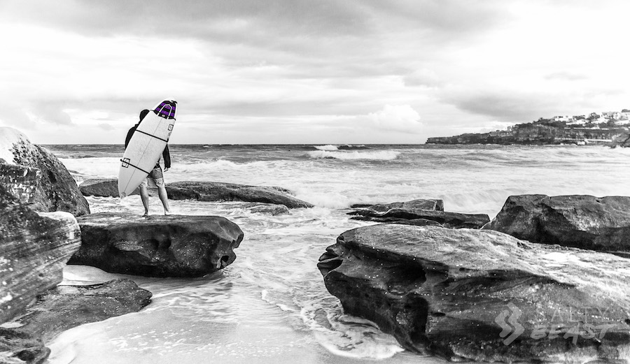 Salty Beast Surfboard Backpack Bondi Beach Sydney, Australia