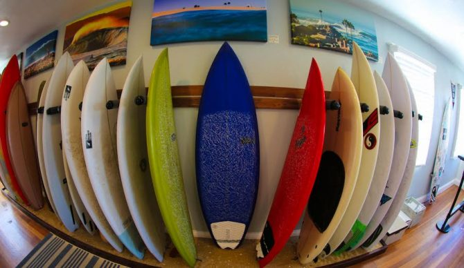 A closer looks at some of the boards. Photo: Newport Board Club