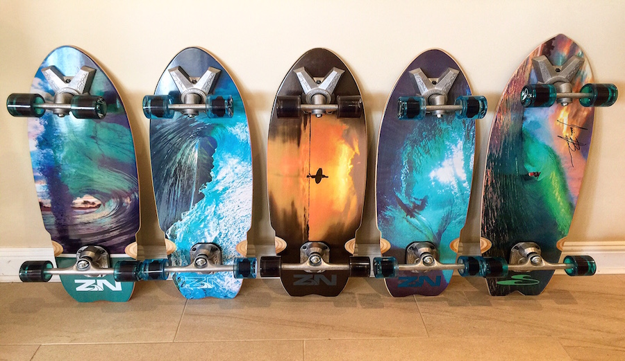 SurfSkate lineup including Jamie O'Brien pro model.