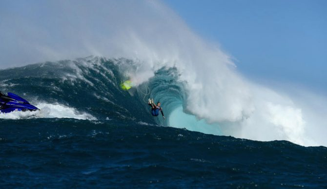 One of big-wave surfing's most accomplished surfers, Paige Alms, undeniably charged at Jaws just a week and a half ago, but are there other takeaways from the women's event at Peahi? Photo: WSL/Kelly Cestari