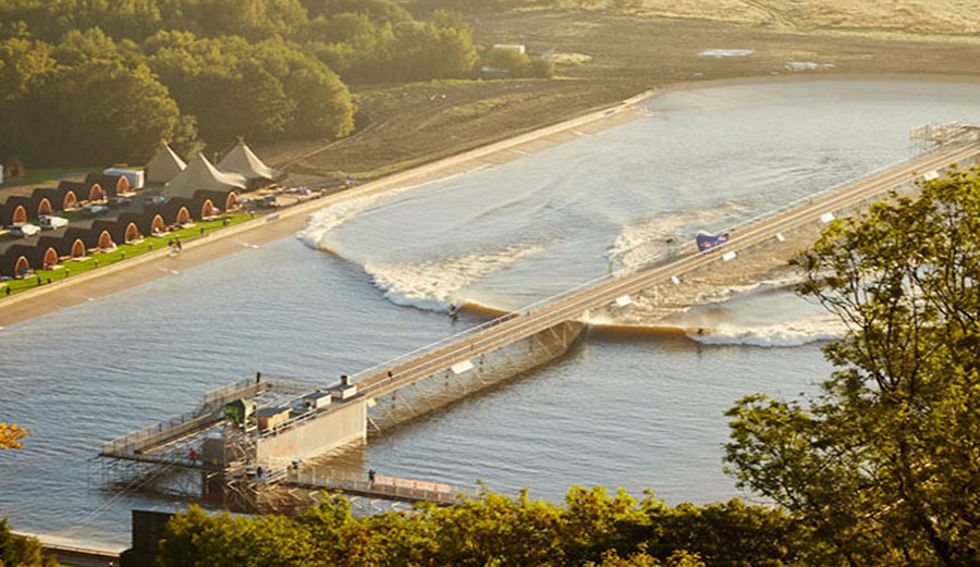 Surf Snowdonia, despite a year's worth of issues, had more than double the visitors they expected. Photo: Surf Snowdonia