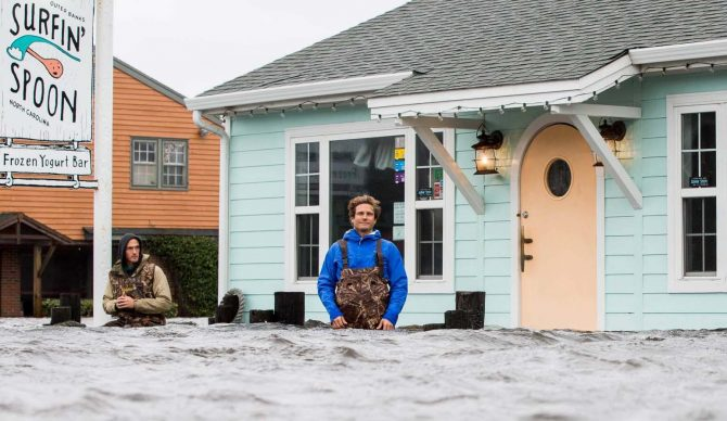 Jesse Hines Surfin Spoon Outer Banks Hurricane Matthew