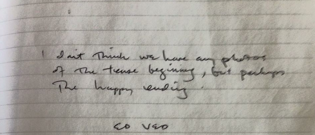 A note from Vedder.