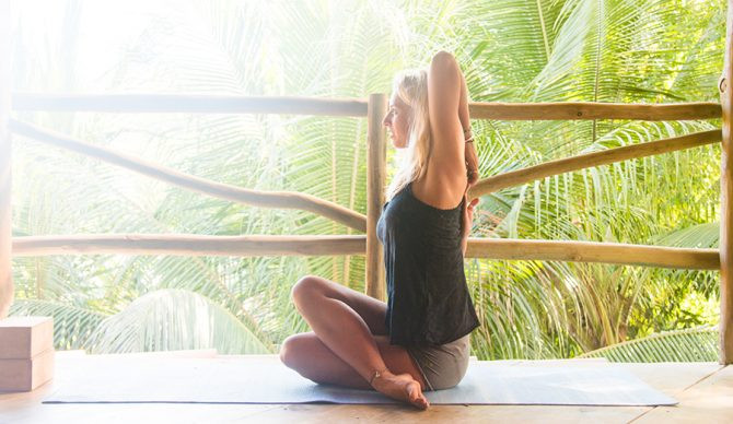 5 Yoga Poses To Relieve Shoulders After Surfing The Inertia