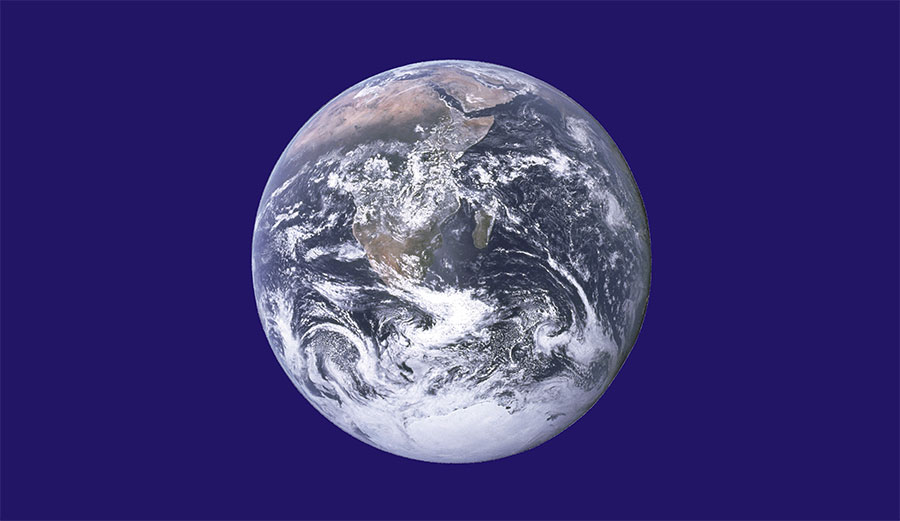 The flag of earth. Image: Wikicommons