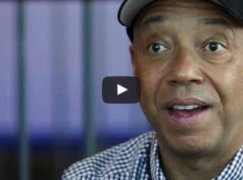 Russell Simmons is on his yoga program.