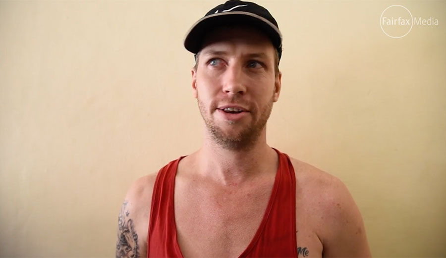 Shaun Edward Davidson went to Bali instead of facing drug-related charges in Australia. Now, he's escaped from a Balinese prison by tunneling out.