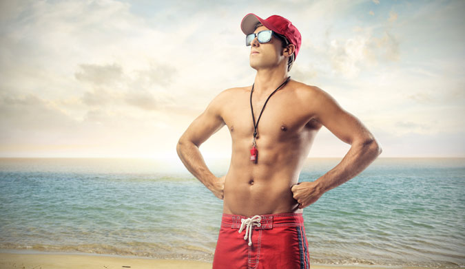 Lifeguarding is all about networking. Saving lives is always secondary to passing out headshots. Photo: Shutterstock