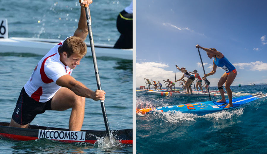 """""""Especially on flat water, propulsion using a paddle is basically canoeing,"""" said the secretary general of the canoeing federation. """"Standing up or sitting down is irrelevant."""" Photos: ICF/ISA"""