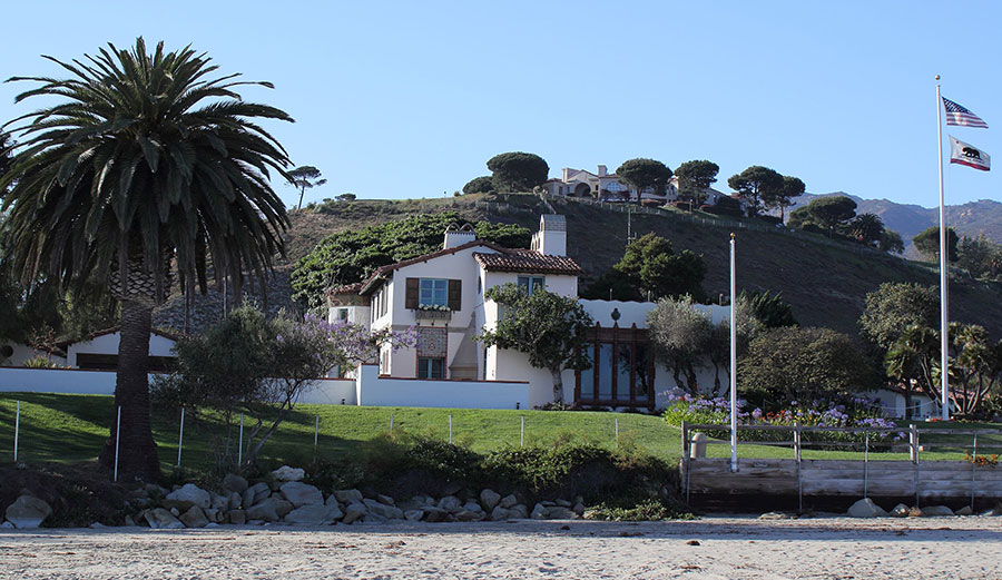 The Adamson House is one of California's historic landmarks. Critics of the lagoon's restoration believe the beach around it is eroding much faster than usual. Photo: Wikimedia Commons