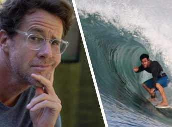 Surfer/Philosopher Aaron James. Photos: The Inertia/Courtesy of Aaron James