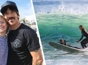Anthony Kiedis and Courtney Conlogue came out to support A Walk on Water in full force. Photos: Cat Gregory