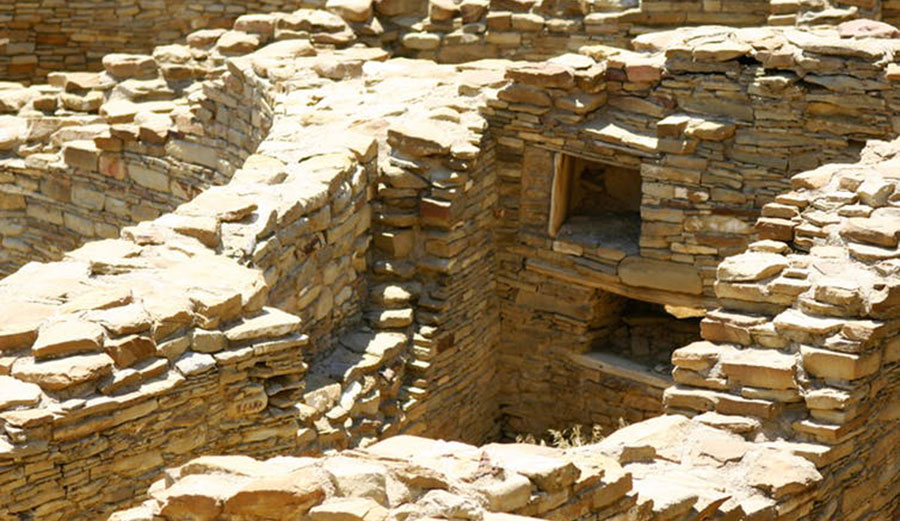 Ruins at Chaco Culture National Historic Park, New Mexico, originally protected under the Antiquities Act by President Theodore Roosevelt in 1907 to prevent looting of archaeological sites. Image: Steven C. Price/Wikipedia, CC BY-SA