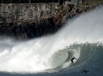 The first days of the new year started with a real bang at Mundaka, and it was far better than any fireworks show could ever be.