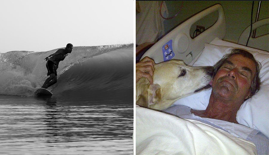 Freddie Grosskreutz, legendary surfer and namesake of Freddieland, has passed away. Photos: Facebook