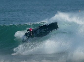 Darren Handley, of DHD fame, drops Dean Harrington into a Kirra grinder then encounters a little trouble on his jetski.