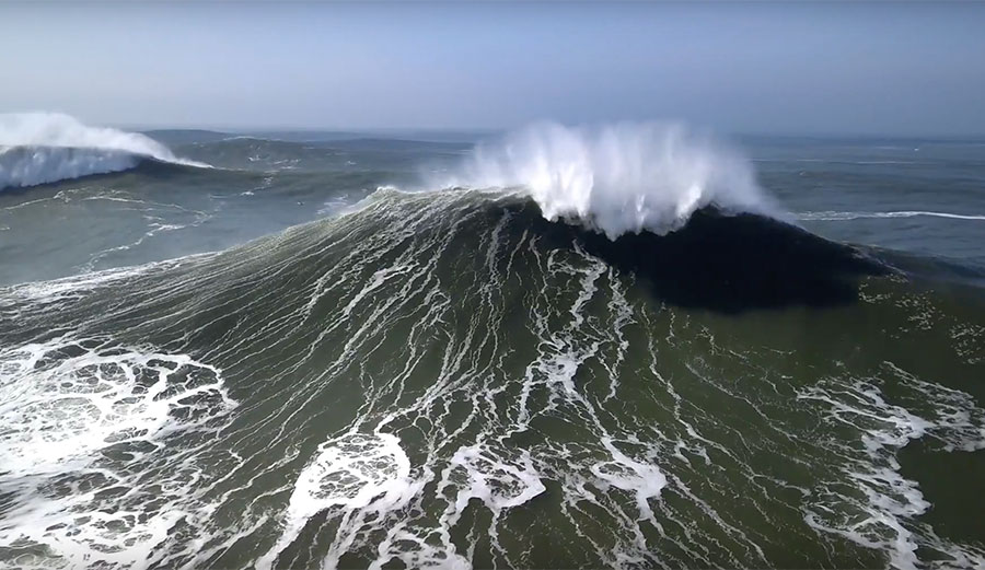 February 18th at Nazaré: 'The Perfect Day to Catch a 60 Foot Wave'