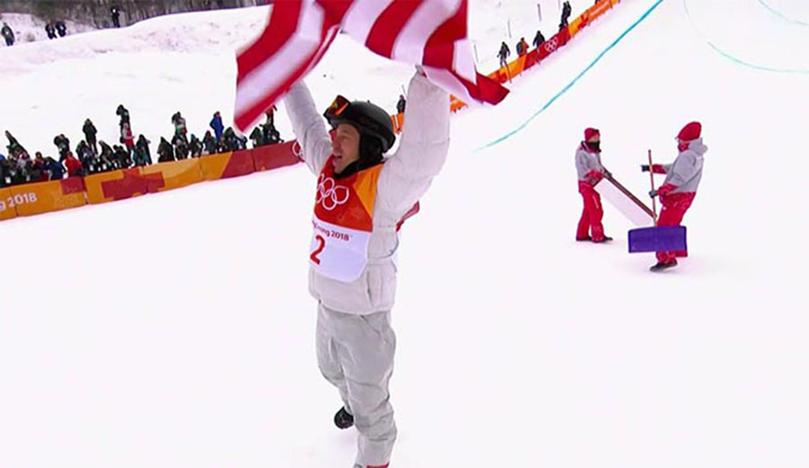 Shaun White at the Olympics. Will he have reason to celebrate a lasting effect?