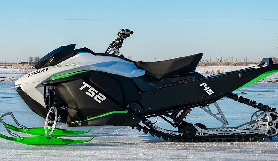 At under 500lbs fully loaded, Taiga's electric snowmobiles are some of the lightest in the industry. Image: Taiga