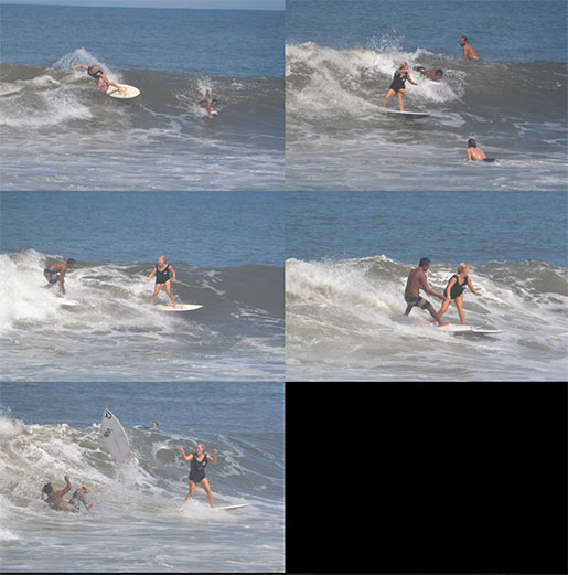 A sequence of the wave that caused the problems.