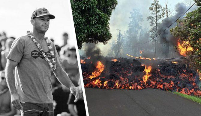 Shane Dorian Lava Big Island Hawaii