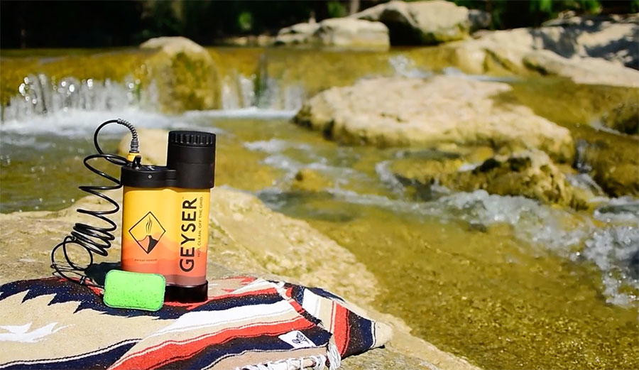 Oh sure, you COULD just bathe in that beautiful creek, but sometimes there isn't a creek available. Image: Geyser/Kickstarter