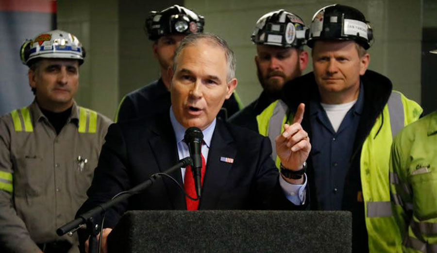 "The EPA is being aggressively reorganized ""to promote interests of regulated industries, at the expense of its official mission, which is to 'protect human health and the environment.'"""