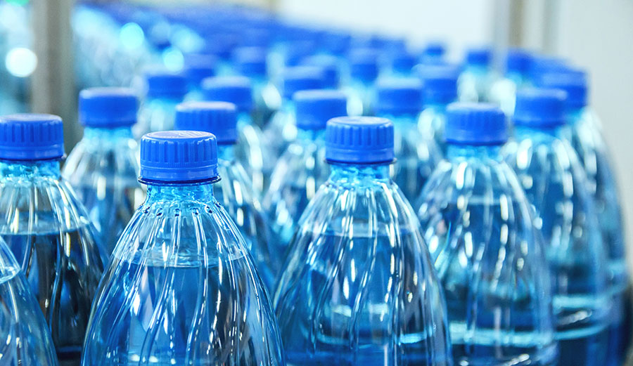 Up to 241 microplastics per litre of bottled water. Shutterstock