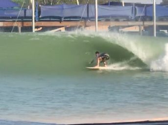 This Michigan native managed to get barreled at the Surf Ranch during his first surf ever.
