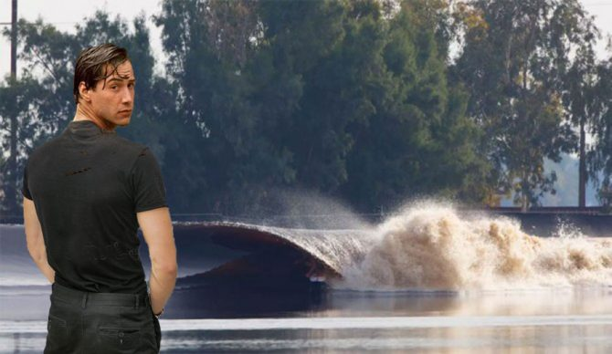 keanu reeves peeing in wave pool