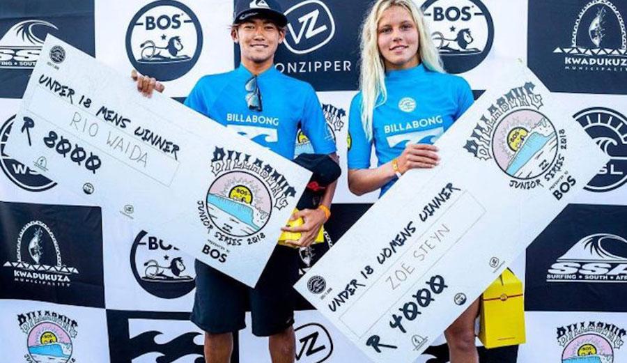 Rio Waida, Zoe Steyn, prize money