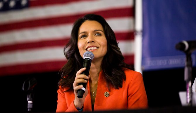 Tulsi Gabbard also made headlines when she stepped down as the DNC Chair to support Bernie Sanders. Photo: Supplied by Office of Tulsi Gabbard