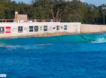 Surfline now has cams for the Waco wave pool. Three to be exact. Screenshot: Surfline
