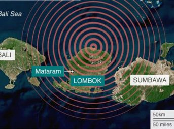 An earthquake measuring 7.0 struck Lombok in the early morning hours on Sunday, killing at least 82.