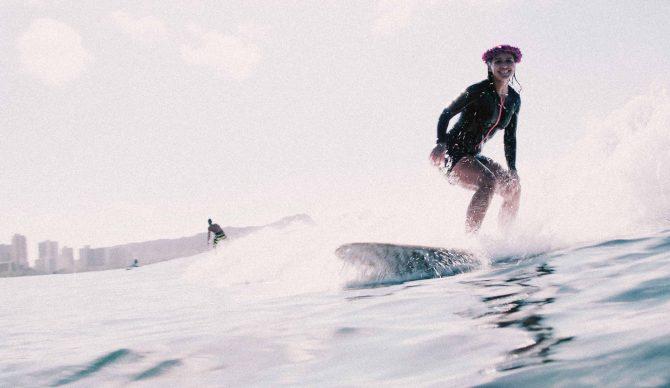 Tulsi Gabbard Surfs