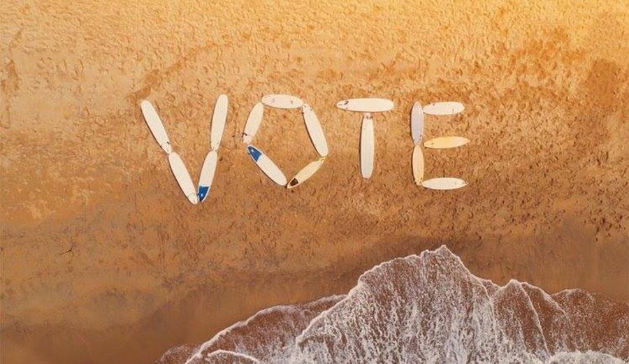 You surf. You should vote. Image: Blue Uprising/Facebook