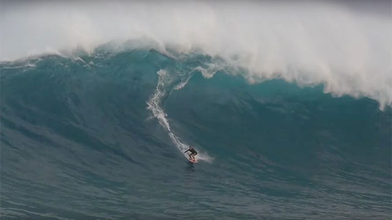 Andrea Moller at Jaws, Maui, Hawai