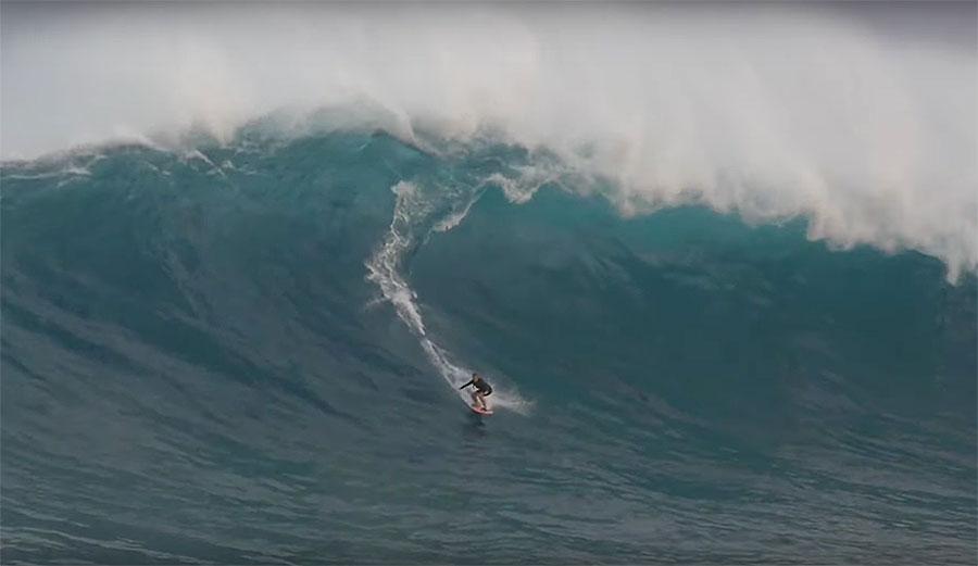 Andrea Moller at Jaws, Maui, Hawai