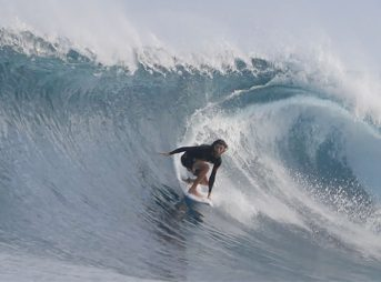 Matt Meola went to Indonesia. Matt Meola surfed great waves.