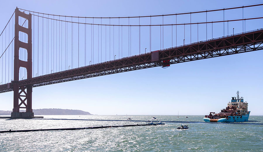 On September 8th, the Ocean Cleanup's array finally weighed anchor and headed out to do its job.